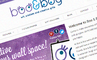 Boo&Boy website design